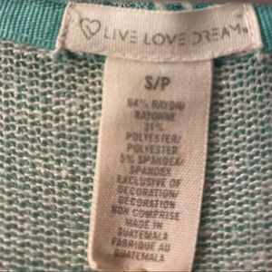 Aeropostale Sweaters - Sea foam green knit yoga top